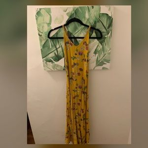 Mustard yellow with flower dress!